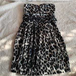Charlotte Russe: cheetah print strapless dress